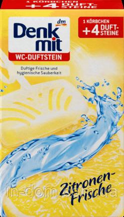 Denkmit WC-Duftstein Zitronen-Frische Підвісні таблетки для унітазу Свіжість лимона 4 шт.