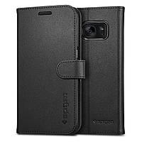 Книжка-Чехол Spigen для Samsung S7 Wallet S, Black, фото 1