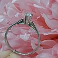 Кольцо из белого золота с бриллиантами 17 р. - Золотое кольцо с бриллиантом на предложение р.17, фото 2