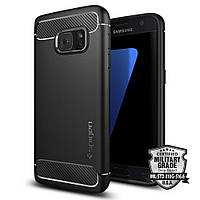 Чехол Spigen для Samsung S7 Rugged Armor, Black