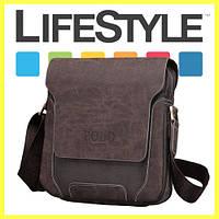 Кожаная мужская сумка-барсетка Polo Оксфорд