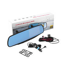Автомобильный видеорегистратор зеркало с двумя камерами FULL HD L9002 4.3''