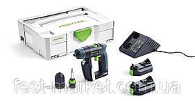 Аккумуляторная дрель-шуруповёрт CXS Li 2,6-Plus Festool 564531