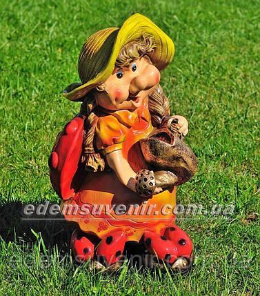 Садовая фигура Майя с лейкой, фото 2