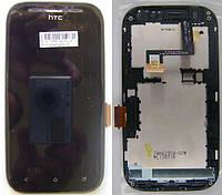 Дисплей для HTC Desire SV, черный в сборе с сенсорным стеклом, с широким шлейфом