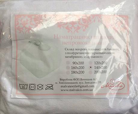 Наматрасник (чехол) натяжной непромокаемый 160*200 Мальва, фото 2