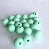 9мм (мята) круглая, силиконовая бусина