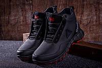 Мужские зимние высокие кожаные кроссовки ботинки Reebok