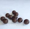 9мм (коричневый) круглая, силиконовая бусина, фото 2