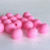 9мм (розовая) круглая, силиконовая бусина