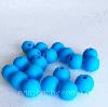 9мм (голубая) круглая, силиконовая бусина, фото 3