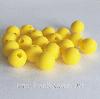 9мм (желтая) круглая, силиконовая бусина, фото 2