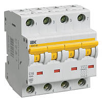 Автоматический выключатель ВА 47-60 4Р  6А 6 кА  х-ка D ИЭК