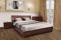 Кровать Мария с подъемным механизмом 140 х 200 см (орех темный)
