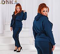 Женский костюм батал (брюки+жакет), фото 1