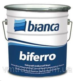 Фарба декоративна антикорозійна Biferro Bianca, 2.5 л