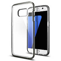 Чехол Spigen для Samsung S7 Neo Hybrid Crystal, Gunmetal , фото 1