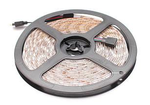 RGB светодиодная лента влагозащищенная комплект (набор) RGB LED strip 5050 SMD 5м, фото 3