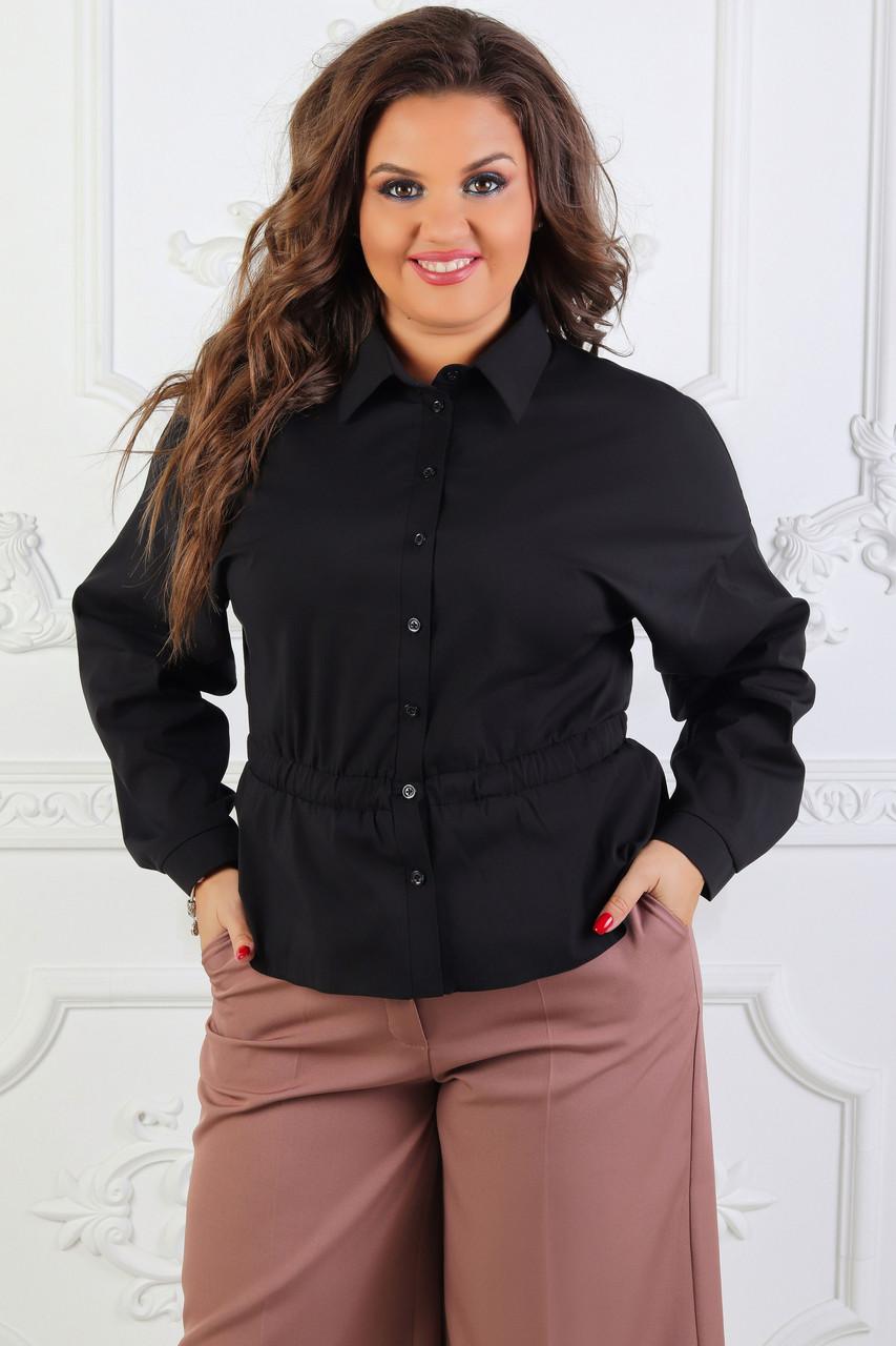 Рубашка черная, арт.1018