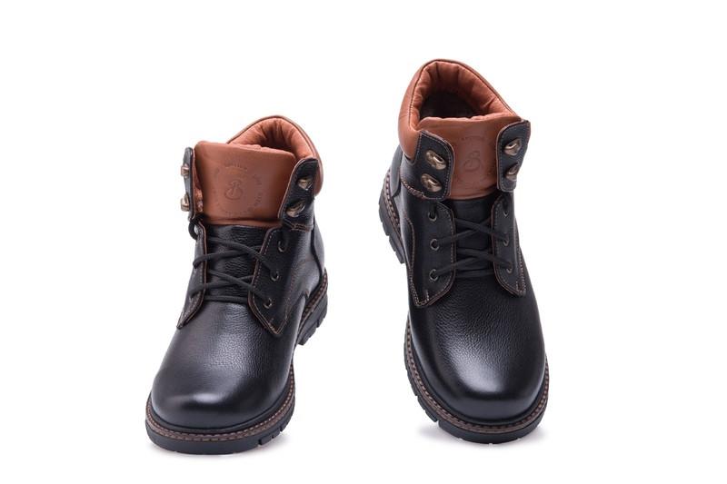 Зимние кожаные ботинки для мальчика Размер 36 37 38 39