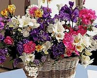 Картина по номерам 40×50 см. Любимые цветы