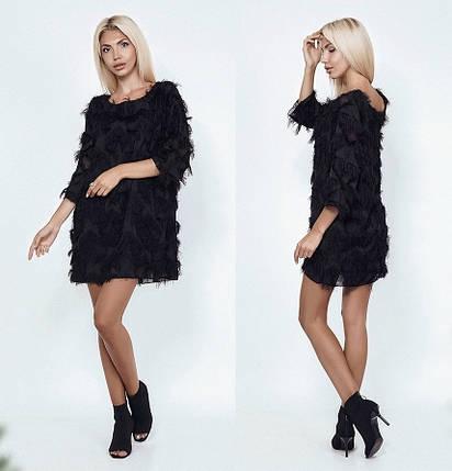 Черное платье выше колен, фото 2