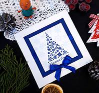 Открытка корпоративная на Новый год  с логотипом компании ручной работы 026