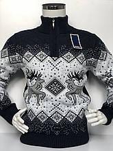 Теплий светр чоловічий з оленями FIVE 5, змійка