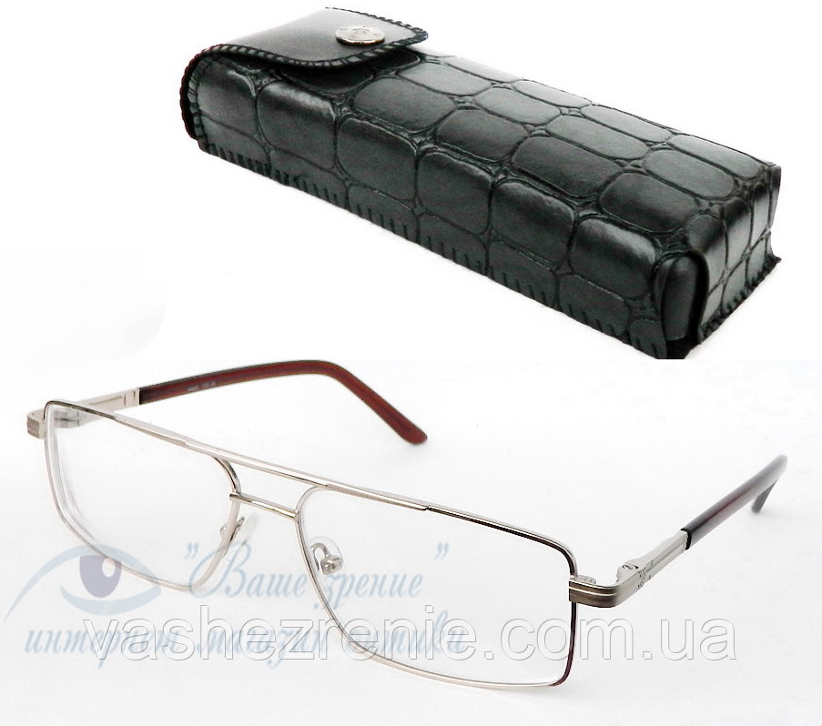 Очки мужские для зрения +/- (стекло) Код:2133