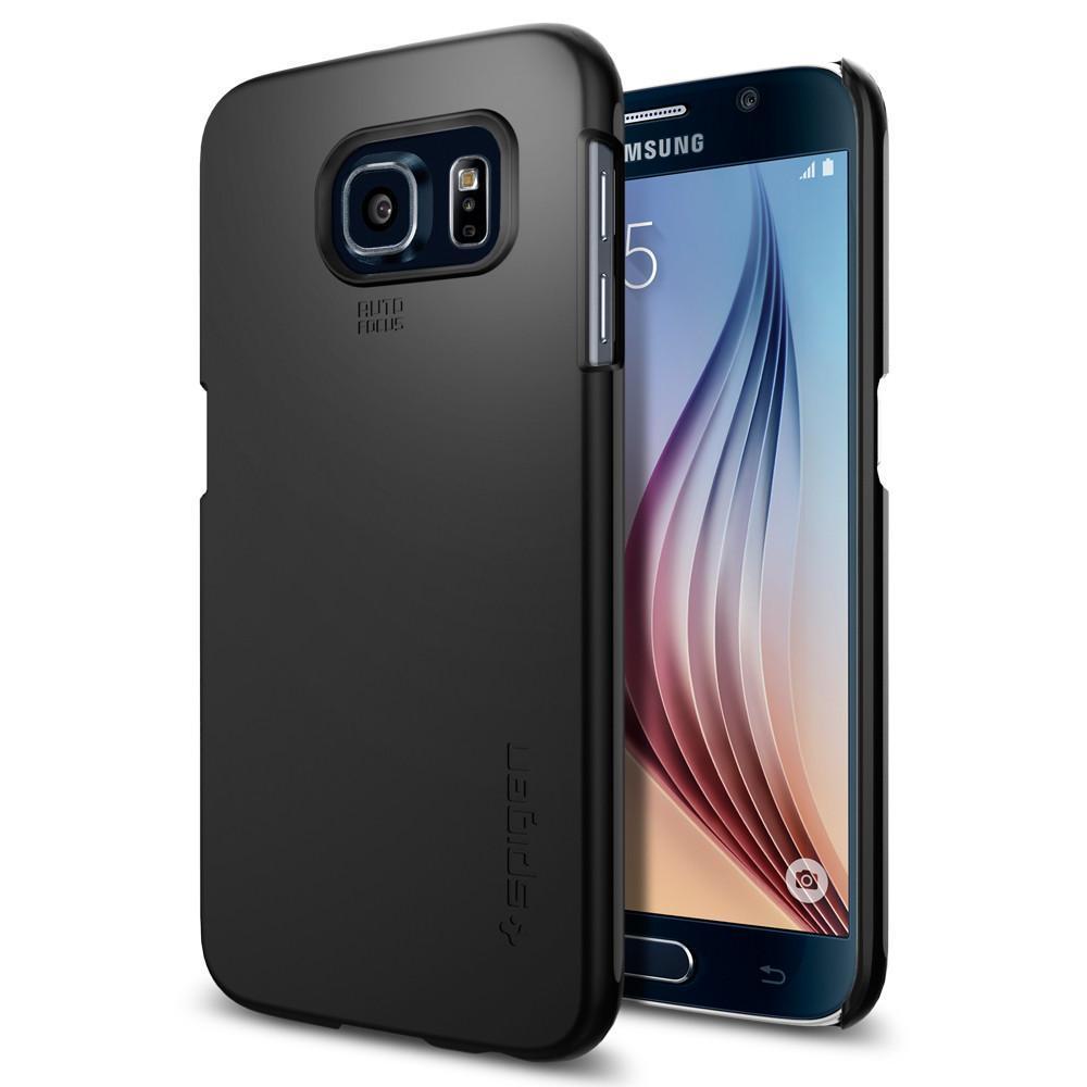Чехол Spigen для Samsung S6 Thin Fit, Smooth Black, фото 1