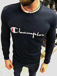 Мужской свитшот Champion темно-синего цвета топ реплика