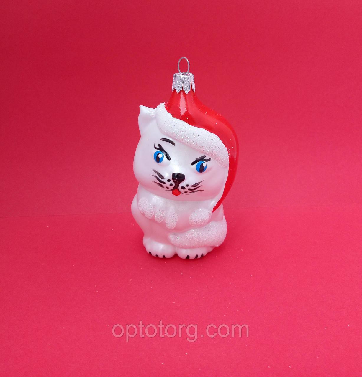 Новогодние украшения на елку Котик размер 12*5 см
