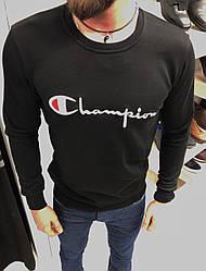 Мужской свитшот Champion черного цвета топ реплика