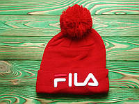 Мужская зимняя шапка в стиле Fila | Топ качество!