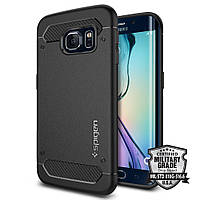 Чехол Spigen для Samsung S6 Edge Rugged Armor, Black, фото 1