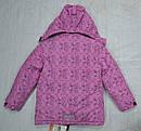 Куртка зимняя для девочки розовая (Quadrifoglio, Польша), фото 3