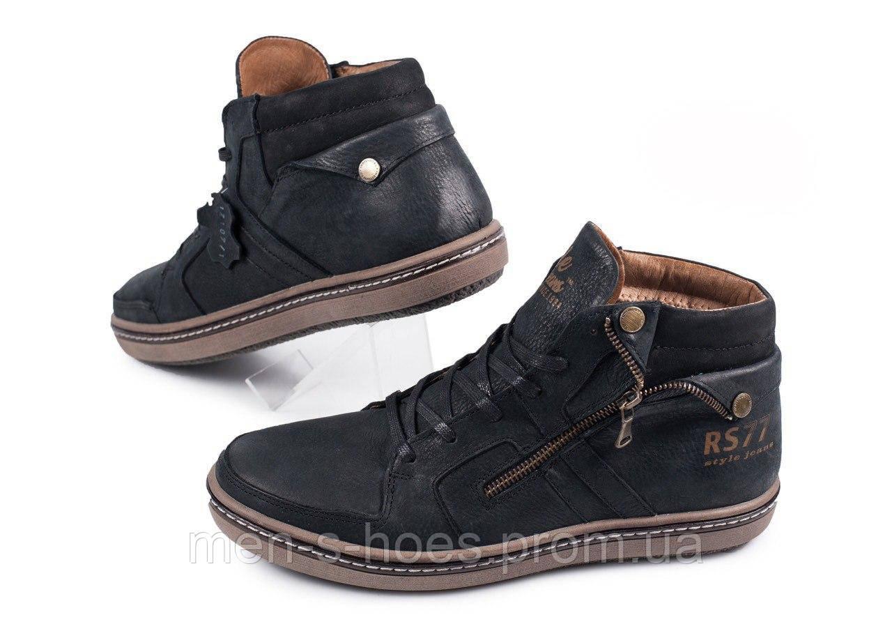 c1064a552a73e Мужские кожаные отличного качества зимние ботинки Belvas Comfort Shoes Black
