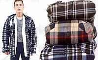 Куртка - рубашка мужская в больших размерах на меховой подкладке - застёжка молния