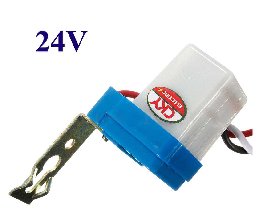Фотореле 24 Вольта,  сумеречное реле «день–ночь»,   датчик освещенности AS-10 24V