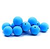 15мм (голубой) круглая, силиконовая бусина, фото 2