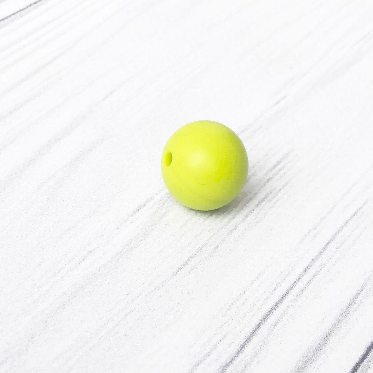 15мм (салатовый) круглая, силиконовая бусина