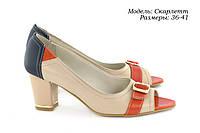 Туфли на среднем каблуке, фото 1