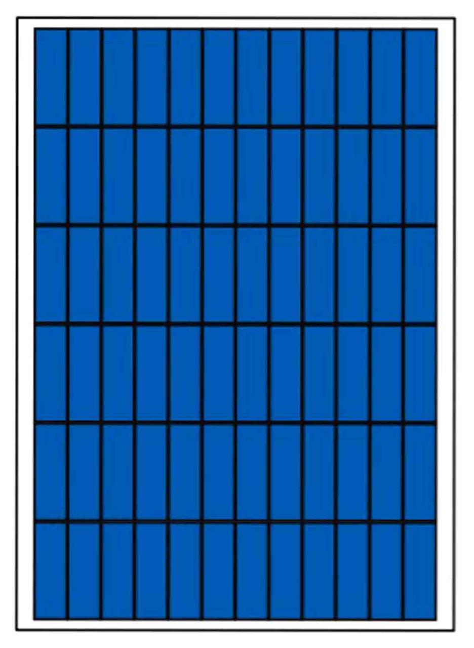Сонячна батарея 100 Вт полікристалічна