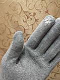 Трикотаж с сенсором женские перчатки 7 цветов для работы на телефоне плоншете ANJELA(только ОПТ), фото 4