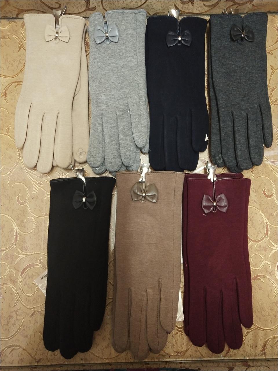 Трикотаж с сенсором женские перчатки 7 цветов для работы на телефоне плоншете ANJELA(только ОПТ)