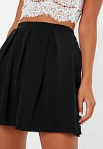 Новая черная юбка в складки Missguided, фото 2