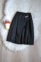 Новая черная юбка в складки Missguided, фото 3