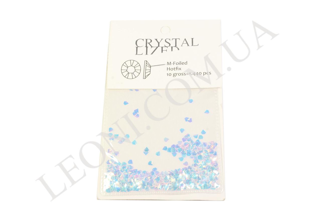 Декор кристалл для дизайна ногтей Голубой хамелеон