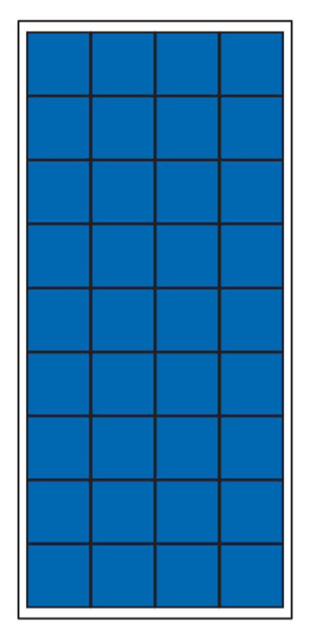 Солнечная батарея поликристаллическая 150 Вт