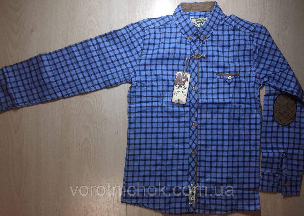 Детская байковая рубашка для мальчиков 10-14 лет